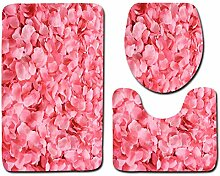 WWDDVH 3 Stücke Moderne Floral Badematte Set