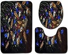 WWDDVH Mikrofaser 3 Stücke Badematte Set Malerei