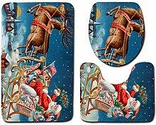 WWDDVH Weihnachten Bad 3 Stücke Flanell Polyester