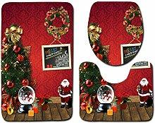 WWDDVH Weihnachten Badezimmer Dekor 3 Stücke