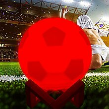WWJ 3D Fußballnachtlicht 16 Farben Bunte