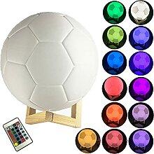 WWJ 3D LED Nachtlicht 16 Farbe Bunte Fußball