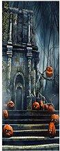 WWSZ Halloween 3D Türaufkleber Dekoration