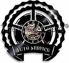 wwwff Vinyl Wanduhr Auto Service Vinyl