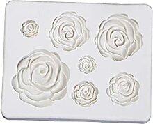 WWWL Keksausstecher, Rose Blume Blatt Silikonform