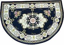 WXDD Europäische halbrunde Teppich Fußmatte für
