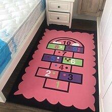 WXDD Feuchten Teppich Schlafzimmer, Bett, süße