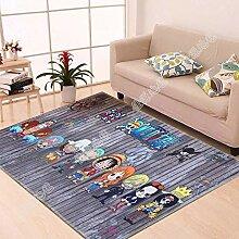 WXDD Fußmatten 3D-Druck Kinderteppich, Wohnzimmer