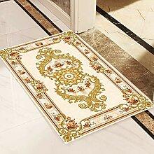 WXDD Fußmatten Europäischer Teppich für den