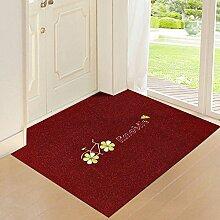 WXDD Tür Tür kann mit dünnen Matte, Fußmatte,
