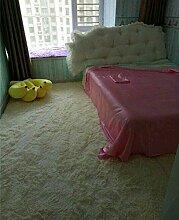 WXDD Waschbar grau verdickte Seide Teppich mit