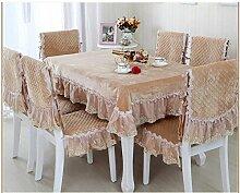 WXFC Ländliche Tischdecke Stoff Tischdecke mit