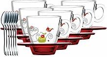 WXH 6 STÜCKE Teegläser Becher Espressotasse