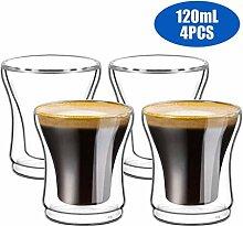 WXH Doppelschalig Kaffeegläser Espressotasse