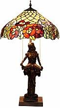 WXHN Tischlampe Tiffany Stil Buntglas Schreibtisch