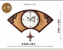 WXIN Tinte Auf Bambus Und Rattan Sitze Holz- Ventilator Holz- Rockt Die Wohnzimmer Mute Wall Clock Clock Quarzuhr 20 Zoll Klein