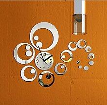 WXIN / Wandaufkleber / Inneneinrichtungen / Wandaufkleber Uhr Spiegel Wandaufkleber Parlor Tv Spiegel Spiegel Aufkleber / Schwarz