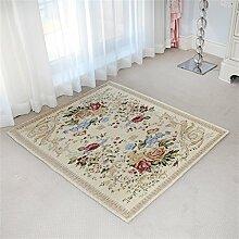 WXP-Teppiche und Decken / Teppiche European Style Big Teppich Treppen Wohnzimmer Schlafzimmer Nachttischdecke Hängekissen Study Computer Stuhl Quadrat Teppich (100 * 100cm) Hausteppich-WXP