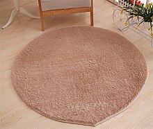 WXP-Teppiche und Decken / Teppiche Runde Teppich Koralle Samt Zelt Teppich Korb Stuhl Rutschfester Teppich Hausteppich-WXP ( Farbe : # 4 , größe : Diameter 80cm )