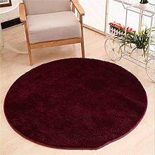 WXP-Teppiche und Decken / Teppiche Runde Teppich Koralle Samt Zelt Teppich Korb Stuhl Rutschfester Teppich Hausteppich-WXP ( Farbe : # 3 , größe : Diameter 120cm )