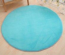 WXP-Teppiche und Decken / Teppiche Runde Teppich Koralle Samt Zelt Teppich Korb Stuhl Rutschfester Teppich Hausteppich-WXP ( Farbe : #8 , größe : Diameter 120cm )