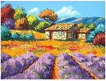 Wxswz Landschaft Blaues Meer Home Decor Gemälde