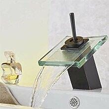 WXX Glasauslauf Wasserfall Waschbecken Wasserhahn