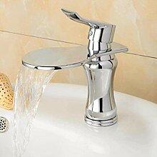WXX Wasserhahn Badarmatur mit Chrom Wasserfall