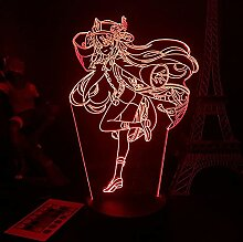 WXXT Nachtlicht,Genshin Impact Hu Tao Anime Figur