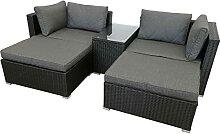 WXYQY Sitzgruppe schwarz Lounge Rattanmöbel