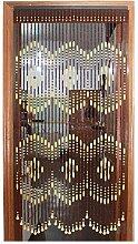 WYAN Türvorhang mit Perlen für Türen, Holz,