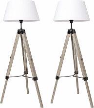 Wyctin - 2x Stehlampe Tripod höhenverstellbar