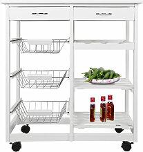 Wyctin - Küchenwagen Rollwagen Servierwagen MDF