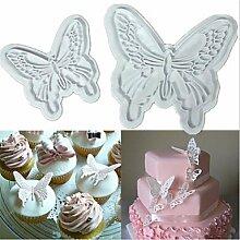WYFC 2pcs Schmetterlingskuchenplätzchen