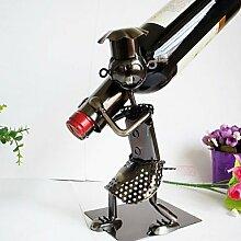 WYFC Metall Eisen kreative Mann Weinflaschenhalter