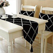 WYFC Moderne im europäischen Stil Samt Tischläufer. Tischdekoration. Couchtisch. TV-Schrank. Bett . c . 32*200cm