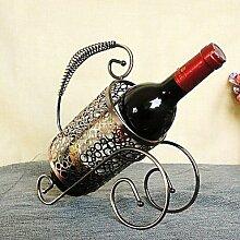 WYFC neue Art und Weise Retro Bronze Weinregal