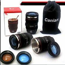 WYFC Objektiv Glas Metall-Tank Kamera Tasse