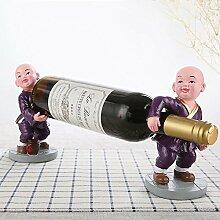 WYFC Weinplatz Rack Cartoon mönch tragen