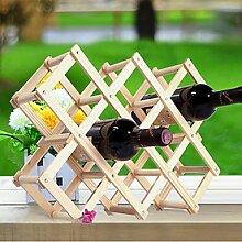 WYFC Weinregale Holz.44*43*31CM Wein Zubehör . 1