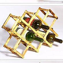 WYFC Weinregale Holz.44*43*31CM Wein Zubehör . 2