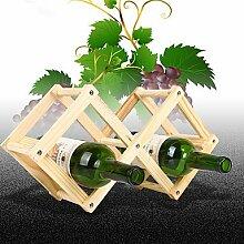 WYFC Weinregale Holz.44*43*31CM Wein Zubehör . 3