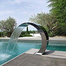 WYFDM Schwimmbad Brunnen, Rechteckiger Wasserfall