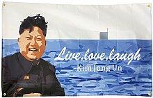 WYFGL Wandposter mit Kim Jong Un Live Laugh Love