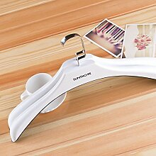 WYHYDCG 10 Stück,Anti-Rutsch ,Hochwertiger Kunststoff-Kleiderbügel,360° drehbarer Haken mit rutschfeste Oberfläche dünn , ivory male models