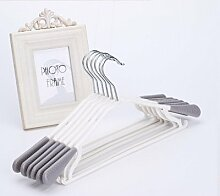 WYHYDCG 10 Stück,Wind-Und Wasserdicht Kunststoff-aufhänger/Anti-rutsch Nahtlose Racks/Socken Und Regale , candy grey