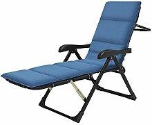 WYJW Blau Lounge Chair Klapp Patio Lounge Chaise