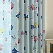 WYJW Verdunkelungsstoff Vorhang Schlafzimmer