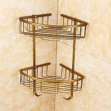 WYMNAME Badezimmer Dusche regal ecke, Bronze Antik