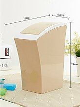 WYMNAME Papierkorb mit Deckel,Desktop-Presse-Typ